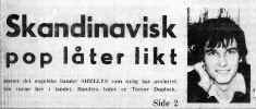 Front page from Norwegian newpaper Pop Expressen re. the first tour in 1966